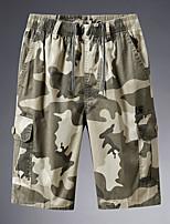 cheap -Men's Hiking Shorts Camo Summer Outdoor Loose Breathable Quick Dry Sweat-wicking Comfortable Cotton Shorts Bottoms Camping / Hiking Hunting Fishing Army Green Khaki Green XL XXL XXXL 4XL 5XL