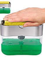 Недорогие -дозатор мыла, насос для мыла, губка caddy, новая творческая кухня, ручной пресс 2-в-1, дозатор жидкого мыла с губкой для мытья