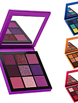 cheap -9 Colors Eyeshadow Eyeshadow Palette Matte Eye Health&Beauty Party Waterproof Easy to Carry Women Youth Professional Girlfriend Gift Convenient Daily Makeup Party Makeup Fairy Makeup Cosmetic Gift