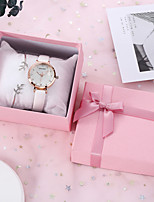 cheap -SANDA Women's Quartz Watches Cubic Zirconia New Arrival Fashion PU Leather Quartz Blushing Pink Blue White Chronograph New Design Casual Watch 1 set Analog