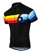 Недорогие -21Grams Муж. С короткими рукавами Велокофты Полиэстер Оранжевый + белый Черный / желтый Синий / белый Ретро В полоску Велоспорт Джерси Верхняя часть Горные велосипеды Шоссейные велосипеды / Дышащий