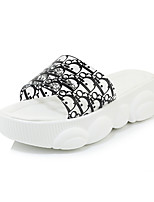 cheap -Women's Slippers & Flip-Flops 2020 Spring & Summer Creepers Open Toe Casual Minimalism Party & Evening Beach Solid Colored PU White / Black / Yellow