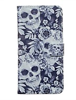 cheap -Case For Samsung Galaxy S20 / Galaxy S20 Ultra / Galaxy S10E Wallet / Card Holder / with Stand Full Body Cases Skull PU Leather For Galaxy S10 Plus/A51/A71/A20E/A01/Note 10 Plus
