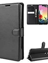 cheap -Case For LG LG Q Stylus / LG X Screen / LG X Power 2 Wallet / Card Holder / Shockproof Full Body Cases Solid Colored PU Leather