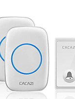 cheap -CACAZI FA60 Wireless Doorbell Self-powered Waterproof Intelligent Home Door Ring Bell 2Pcs Receivers Transmitter