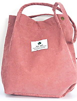 cheap -Women's Pattern / Print Corduroy Top Handle Bag Solid Color Blue / Yellow / Blushing Pink