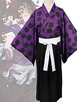 cheap -Inspired by Demon Slayer: Kimetsu no Yaiba Anime Cosplay Costumes Japanese Cosplay Suits Coat Top Pants For Men's