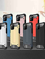cheap -Case For Apple iPhone 11 / iPhone 11 Pro / iPhone 11 Pro Max Shockproof Back Cover Solid Colored TPU / PC