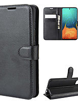 cheap -Case For Samsung Galaxy A71 5G / A70 / A11Wallet / Card Holder / Shockproof Full Body Cases Solid Colored PU Leather / TPU for Samsung Galaxy A Series Mobile Phone Case