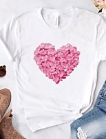 cheap -Women's Floral T-shirt Daily White / Black