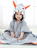 cheap -Kid's Bathrobe Oodie Anime Dinosaur Onesie Pajamas Flannelette Gray Cosplay For Boys and Girls Animal Sleepwear Cartoon Festival / Holiday Costumes