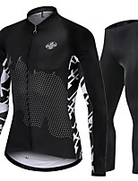 cheap -Nuckily Men's Long Sleeve Cycling Jersey with Tights Black Discovery Bike Sports Discovery Road Bike Cycling Clothing Apparel