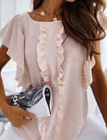 cheap -Women's Solid Colored T-shirt Daily White / Blushing Pink