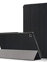 Недорогие -Кейс для Назначение Lenovo Lenovo YOGA TAB3 Pro 10.1 (YT3-X90L / F) / Lenovo YOGA TAB3 10.1 X50L / F Защита от удара Чехол Однотонный Кожа PU