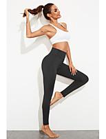 cheap -Women's Sports / Yoga Basic Legging - Solid Colored, Sporty High Waist Black Purple S M L