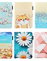 cheap -Case For Apple iPad 10.2 / iPad Mini 3/2/1 /Mini 4/5 Wallet / Card Holder / with Stand Full Body Cases Scenery / Flower PU Leather For iPad Pro 9.7/New Air 10.5 2019/Air 2/2017/2018