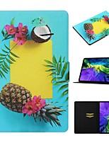 cheap -Case For Apple iPad Air / iPad Mini 3/2/1 / iPad Mini 4 Card Holder / with Stand / Pattern Full Body Cases Food PU Leather For iPad New Air 2019 10.5/Pro 11 2020/Mini 5/iPad 10.2/2017/2018