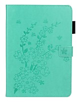 cheap -Case For Apple iPad 10.2 /Pro 11 2020/Mini 3/2/1/4/5 Card Holder / with Stand / Embossed Full Body Cases Solid Colored / Flower PU Leather For iPad New Air 10.5 2019/iPad 4/3/2/2017/2018