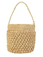 cheap -Women's Straw Top Handle Bag Straw Bag Solid Color Yellow