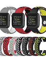 Недорогие -Ремешок для часов для Fitbit Versa / Fitbit Versa Lite / Fitbit Versa2 Fitbit Спортивный ремешок / Классическая застежка / Современная застежка силиконовый Повязка на запястье