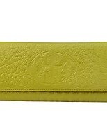 cheap -Women's Cowhide Wallet Crocodile Camel / Yellow