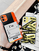 cheap -Case For Apple iPhone 11 / iPhone 11 Pro / iPhone 11 Pro Max Shockproof Back Cover Word / Phrase TPU