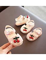 cheap -Girls' Flower Girl Shoes Polyester Sandals Toddler(9m-4ys) / Little Kids(4-7ys) White / Pink Spring / Summer