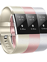 cheap -Watch Band for Fitbit charge2 Oil Spray Color Modern Buckle Silicone Wrist Strap