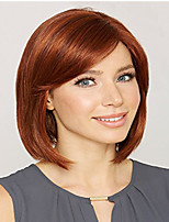 cheap -Synthetic Wig kinky Straight Asymmetrical Wig Short Light golden Burgundy Synthetic Hair 12 inch Women's Easy to Carry Women Easy dressing Red Blonde