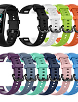 cheap -Watch Band for Huawei Honor Band 4 / HONOR Band 5 Huawei Sport Band Silicone Wrist Strap