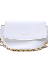 cheap -Women's Chain Polyester / PU Top Handle Bag Leather Bags Solid Color White / Black / Yellow / Fall & Winter