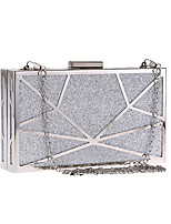 cheap -Women's Chain / Hollow-out Polyester / Alloy Evening Bag Geometric Pattern Gold / Silver / Black
