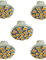 cheap -5pcs 3 W LED Spotlight 300 lm MR11 15 LED Beads SMD 5050 Warm White Cold White Natural White 9-30 V
