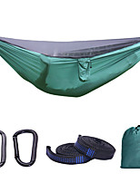 cheap -Camping Hammock with Mosquito Net Outdoor Portable Breathable Anti-Mosquito Ultra Light (UL) Foldable Parachute Nylon with Carabiners and Tree Straps for 2 person Camping / Hiking Hunting Fishing
