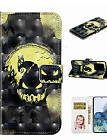 cheap -Case For Samsung Galaxy S20 / Galaxy S20 Plus / Galaxy S20 Ultra Wallet / Card Holder / with Stand Full Body Cases Crown Skull PU Leather / TPU for Galaxy A51 / A71 / A80 / A70 / A50 / A30S / A20