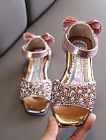 cheap -Girls' Comfort PU Sandals Big Kids(7years +) Black / Pink / Silver Summer
