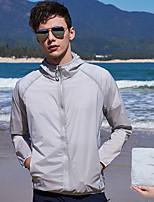Недорогие -Муж. Кожаная куртка Куртка для туризма и прогулок Лето на открытом воздухе Пэчворк Водонепроницаемость С защитой от ветра Защита от солнечных лучей Дышащий Жакет Верхняя часть Спандекс Односторонняя