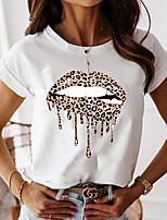 cheap -Women's Graphic Loose T-shirt Daily White / Blue / Blushing Pink
