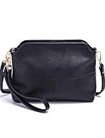 cheap -Women's Zipper PU Leather / Cowhide Clutch / Crossbody Bag Leather Bags Solid Color Wine / Black / Light Purple / Fall & Winter