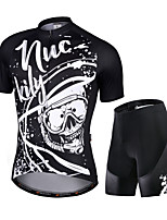 cheap -Nuckily Men's Short Sleeve Cycling Jersey with Shorts Black Bike Quick Dry Sports Graffiti Road Bike Cycling Clothing Apparel