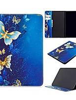 Недорогие -Кейс для Назначение Apple iPad Air / iPad 4/3/2 / iPad Mini 3/2/1 Кошелек / Бумажник для карт / со стендом Чехол Бабочка Кожа PU