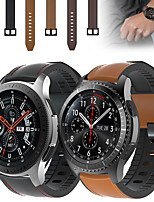 cheap -Leather Silicone Watch Band Wrist Strap For Samsung Galaxy Watch 46mm / Gear S3 Classic / S3 Frontier Replaceable Bracelet Wristband