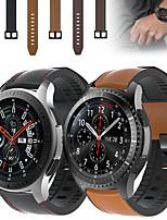 Недорогие -кожаный силиконовый ремешок для часов ремешок на запястье для samsung galaxy watch 46mm / gear s3 classic / s3 frontier сменный браслет браслет