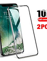 cheap -2PCS 10D Full Cover of Tempered Film iPhone11 Xs Max Xs Xr X 8 7 6 Fall Protection