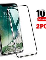 Недорогие -2шт 10d полное покрытие из защищенных от падения iphone11 xs max xs xr x 8 7 6 закаленная пленка