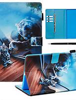 Недорогие -чехол с ручкой samsung galaxy samsung tab t585 / 590/515/725/580/595/510/720 с подставкой / откидной крышкой / ультратонкой задней крышкой cat&усилитель; тигровая кожа