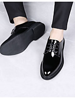 cheap -Men's Faux Leather Spring & Summer Business Oxfords Black