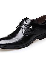 cheap -Men's Spring / Fall Business / British Wedding Party & Evening Oxfords Walking Shoes Leather Shock Absorbing Wear Proof Black / Brown