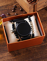 cheap -Men's Digital Watch Digital Silicone Black Chronograph LED Light Casual Watch Digital Fashion Cool - Black