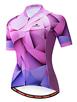 cheap -Miloto Women's Short Sleeve Cycling Jersey Purple Bike Jersey Top Mountain Bike MTB Road Bike Cycling Breathable Quick Dry Sports Clothing Apparel / Stretchy